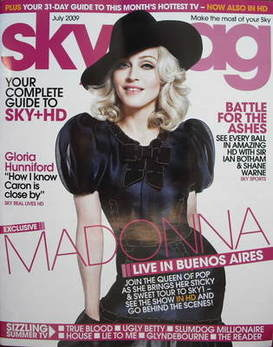 Sky TV magazine - July 2009 - Madonna cover