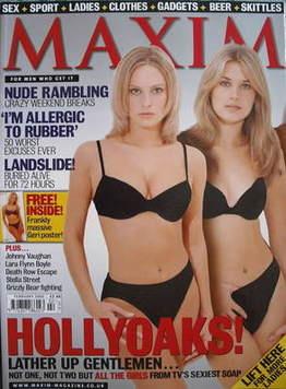 <!--2000-02-->MAXIM magazine - Joanna Taylor and Sarah Jayne Dunn cover (Fe