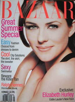 Harper's Bazaar magazine - May 1995 - Elizabeth Hurley cover (US Edition)