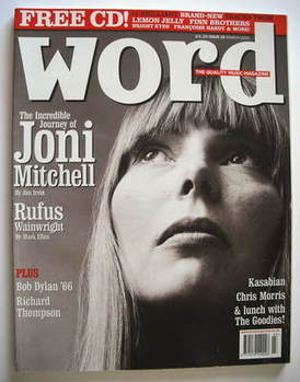 <!--2005-03-->The Word magazine - Joni Mitchell cover (March 2005)