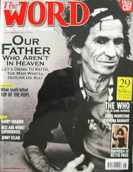 The Word magazine - Keith Richards cover (August 2006)