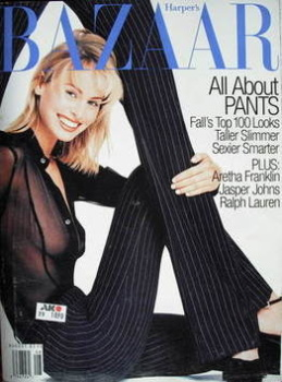 Harper's Bazaar magazine - August 1996 - Niki Taylor cover