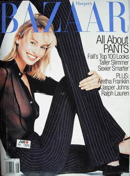 <!--1996-08-->Harper's Bazaar magazine - August 1996 - Niki Taylor cover