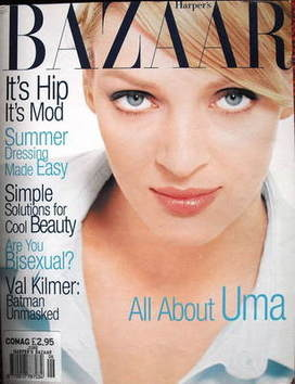 <!--1995-06-->Harper's Bazaar magazine - June 1995 - Uma Thurman cover