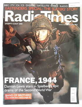 <!--2001-09-29-->Radio Times magazine - Damian Lewis cover (29 September -