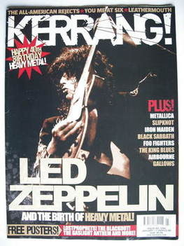<!--2009-01-17-->Kerrang magazine - Led Zeppelin cover (17 January 2009 - I