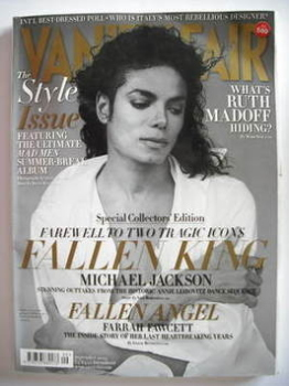 Vanity Fair magazine - Michael Jackson cover (September 2009)