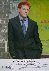 Charlie Clements autograph (EastEnders actor)