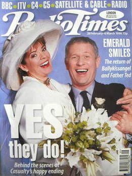 <!--1998-02-28-->Radio Times magazine - Julia Watson and Derek Thompson cov