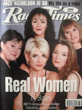 <!--1998-02-21-->Radio Times magazine - Real Women cover (21-27 February 19
