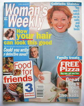 <!--1997-08-19-->Woman's Weekly magazine (19 August 1997 - Gabrielle Glaist