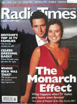 <!--2002-08-31-->Radio Times magazine - Alastair Mackenzie and Dawn Steele