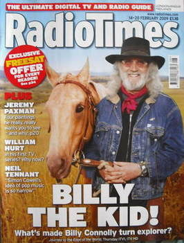 <!--2009-02-14-->Radio Times magazine - Billy Connolly cover (14-20 Februar