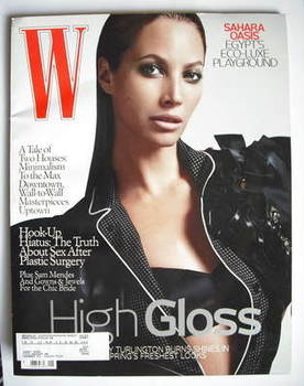 <!--2009-01-->W magazine - January 2009 - Christy Turlington cover