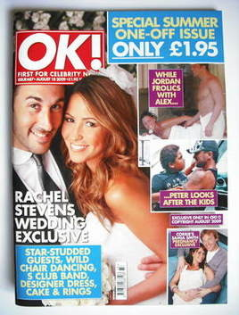 <!--2009-08-18-->OK! magazine - Rachel Stevens wedding cover (18 August 200