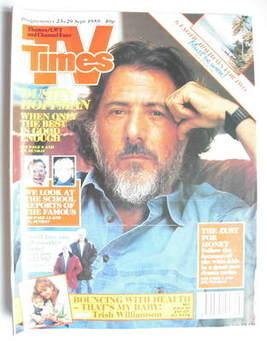 <!--1989-09-23-->TV Times magazine - Dustin Hoffman cover (23-29 September