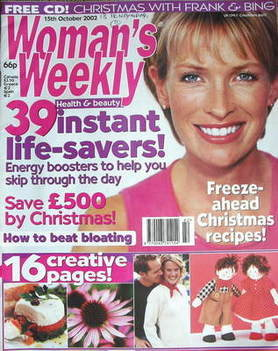 <!--2002-10-15-->Woman's Weekly magazine (15 October 2002)