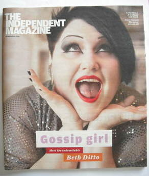 The Independent magazine - Beth Ditto cover (12 September 2009)
