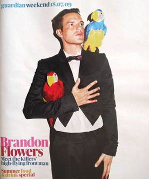 The Guardian Weekend magazine - 18 July 2009 - Brandon Flowers cover