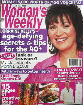 <!--2002-05-14-->Woman's Weekly magazine (14 May 2002 - Lorraine Kelly cove