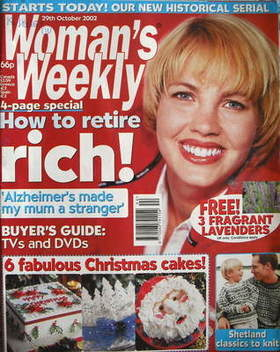 <!--2002-10-29-->Woman's Weekly magazine (29 October 2002)