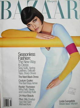 <!--1997-03-->Harper's Bazaar magazine - March 1997 - Linda Evangelista cov