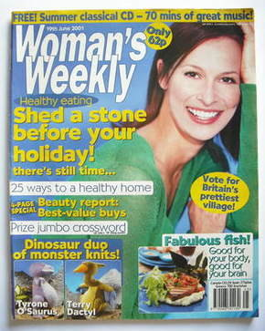 <!--2001-06-19-->Woman's Weekly magazine (19 June 2001)