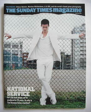 <!--2005-04-24-->The Sunday Times magazine - Tim Henman cover (24 April 200