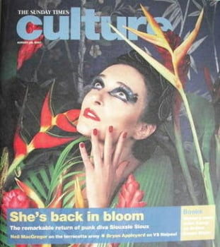 Culture magazine - Siouxsie Sioux cover (26 August 2007)