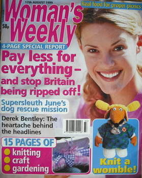 <!--1999-08-17-->Woman's Weekly magazine (17 August 1999)