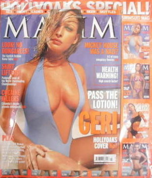 MAXIM magazine - Joanna Taylor cover (July 2001)