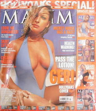 <!--2001-07-->MAXIM magazine - Joanna Taylor cover (July 2001)