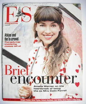 <!--2004-04-16-->Evening Standard magazine - Amelia Warner cover (16 April