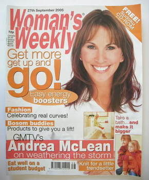 <!--2005-09-27-->Woman's Weekly magazine (27 September 2005 - Andrea McLean