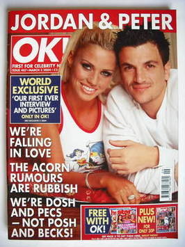 <!--2004-03-02-->OK! magazine - Jordan Katie Price and Peter Andre cover (2
