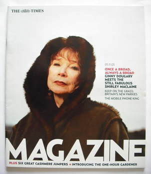 <!--2005-11-05-->The Times magazine - Shirley MacLaine cover (5 November 20