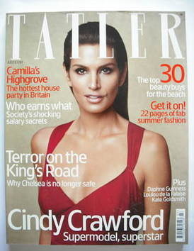 <!--2005-07-->Tatler magazine - July 2005 - Cindy Crawford cover