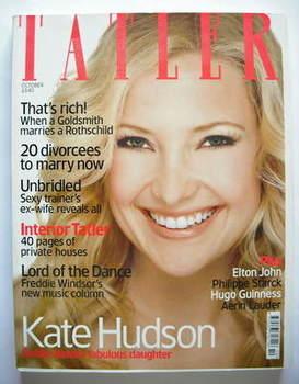 <!--2003-10-->Tatler magazine - October 2003 - Kate Hudson cover