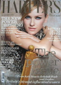<!--2007-03-->Harper's Bazaar magazine - March 2007 - Naomi Watts cover