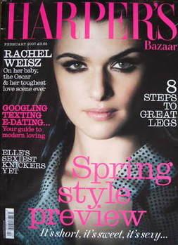 Harper's Bazaar magazine - February 2007 - Rachel Weisz cover