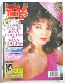 <!--1989-05-27-->TV Times magazine - Joan Collins cover (27 May-2 June 1989