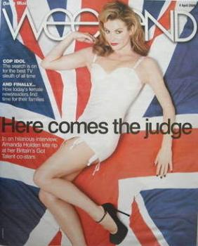 Weekend magazine - Amanda Holden cover (4 April 2009)