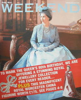 <!--2006-04-22-->Weekend magazine - The Queen cover (22 April 2006)