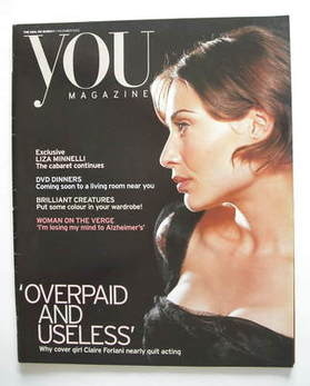 <!--2003-11-02-->You magazine - Claire Forlani cover (2 November 2003)
