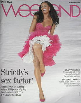 <!--2009-09-26-->Weekend magazine - Alesha Dixon cover (26 September 2009)