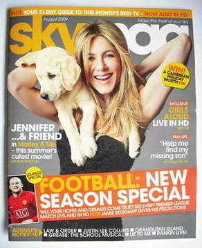 Sky TV magazine - August 2009 - Jennifer Aniston cover