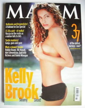 <!--2001-11-->MAXIM magazine - Kelly Brook cover (November 2001)