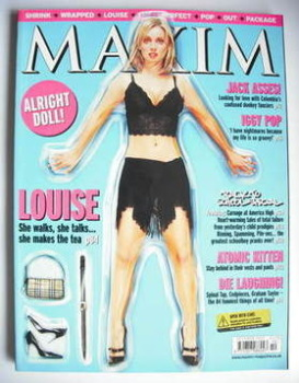 MAXIM magazine - Louise Redknapp cover (October 2001)
