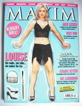 <!--2001-10-->MAXIM magazine - Louise Redknapp cover (October 2001)