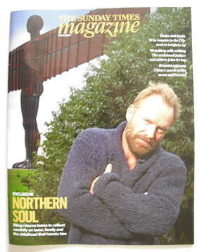 <!--2009-10-18-->The Sunday Times magazine - Sting cover (18 October 2009)